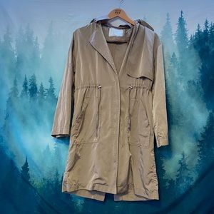 Zara women's tan/brown long jacket coat